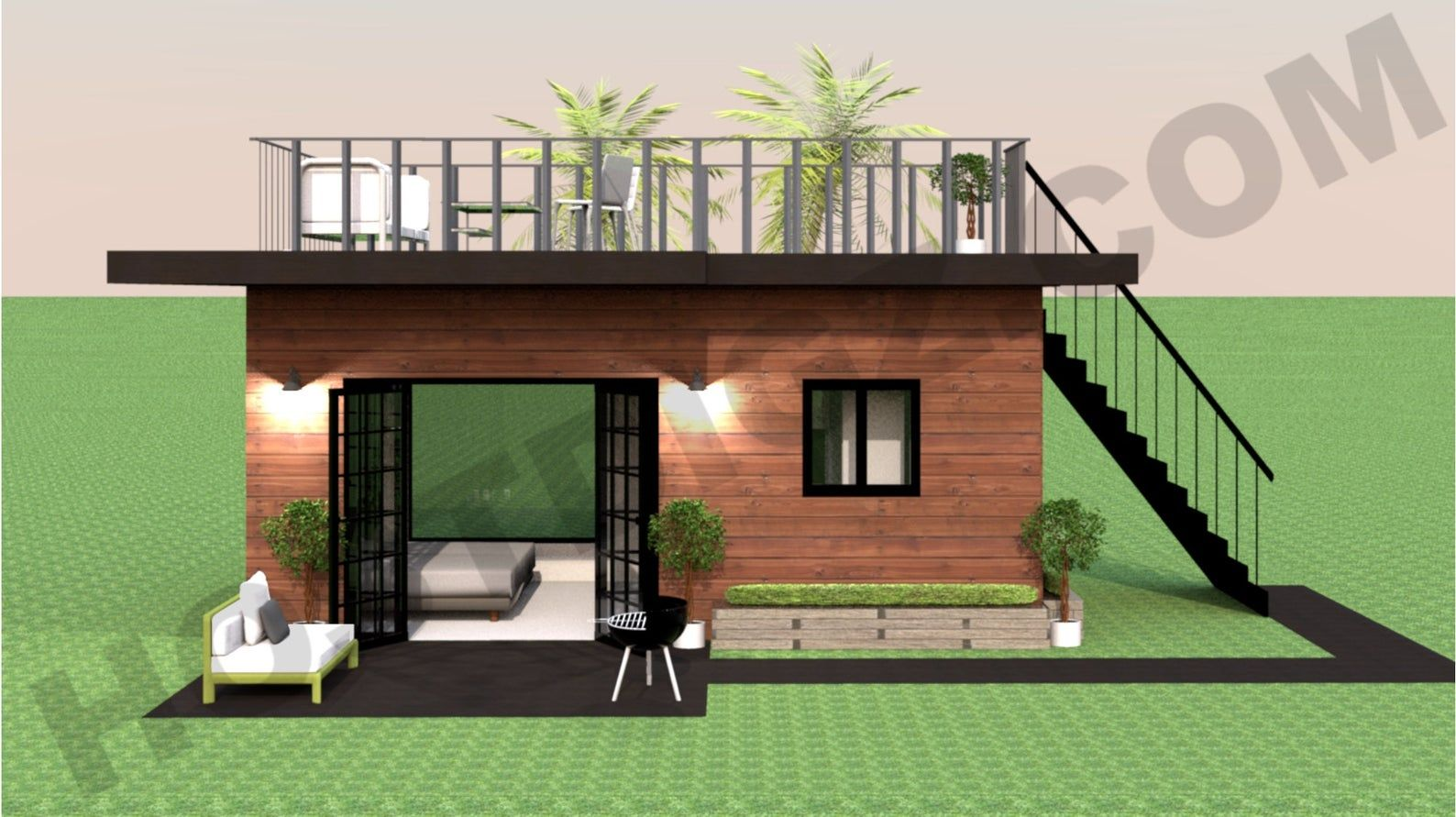 Shipping Container Studio Apartment Tiny Home Construction Plans Airbnb Floor Plan Architectural Designs Diy Container Home Building Plans Tiny House Design Container House Tiny House Floor Plans