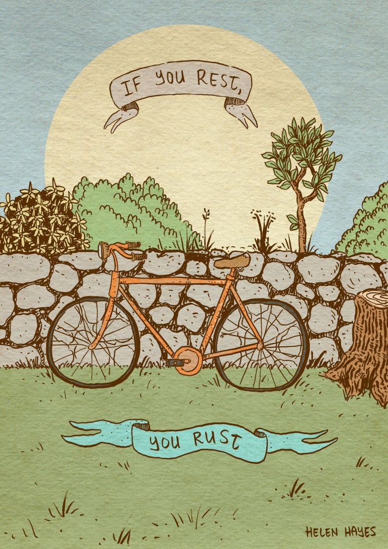 Bicycle Quote Art Print Recycled Paper Art Prints Quotes Bicycle Quotes Art Quotes