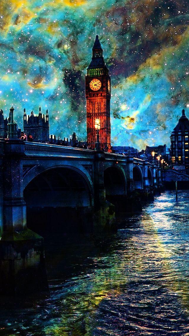 Fanasy Night In London Iphone 5s Wallpaper London