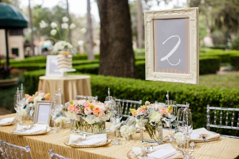 fresh southern peach and gold wedding inspiration