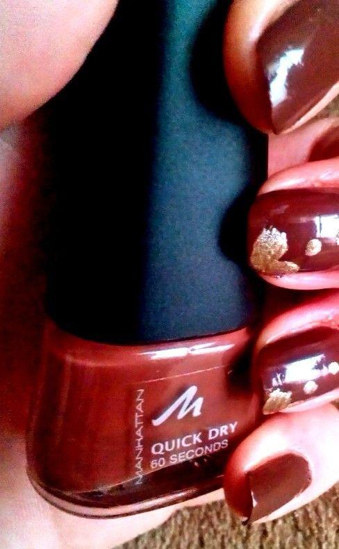 Manhattan quick dry nail polish brown http://beautyreflection.gr ...