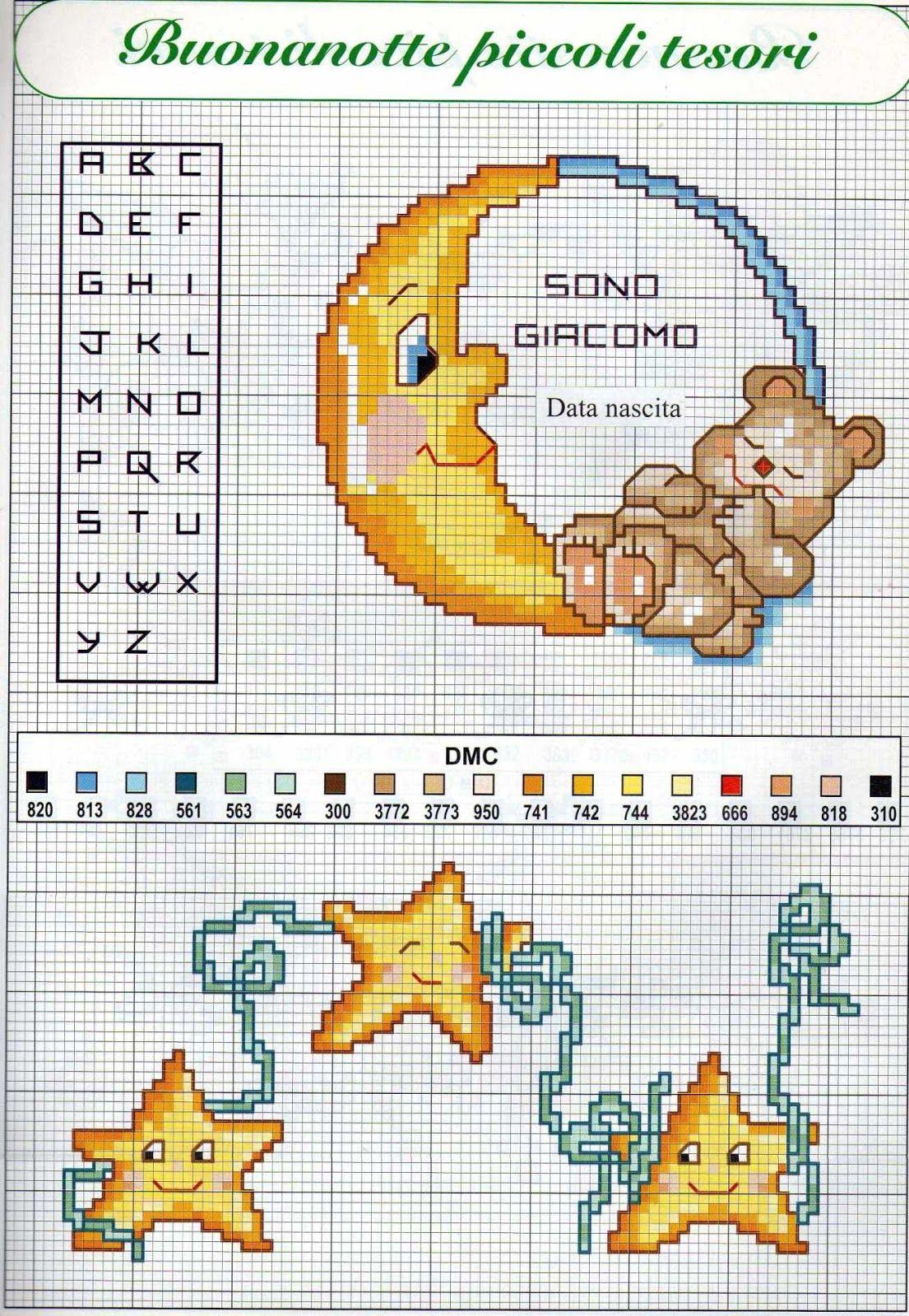 Una discreta raccolta di schemi a punto croce per bambini for Punto croce bambini nascita