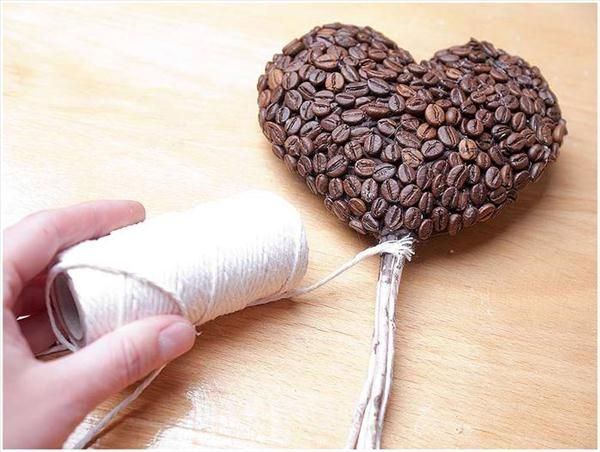 Diy Gift Ideas Coffee Lovers Heart Topiary Beans