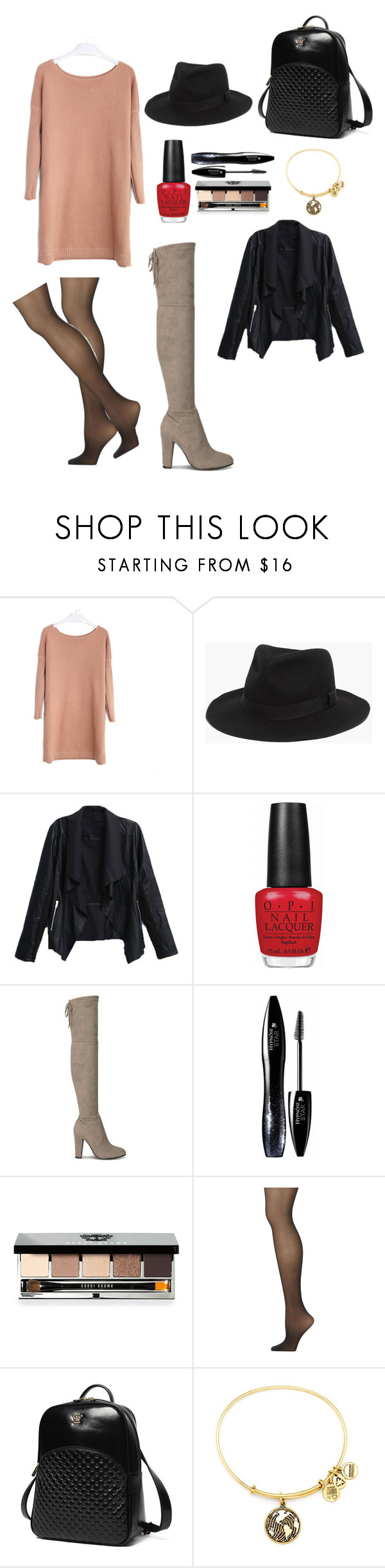 """""""Comfy in Leather"""" by vivianrose-11 on Polyvore featuring Madewell, OPI, Lancôme, Bobbi Brown Cosmetics, Calvin Klein, Princess Carousel and Alex and Ani"""