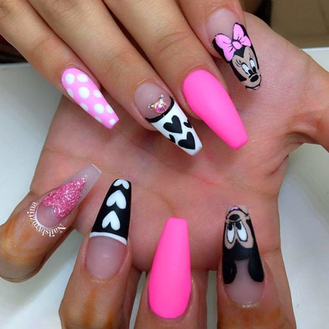 20+ Outstanding Matte Pink Nails Designs   NailDesignsJournal