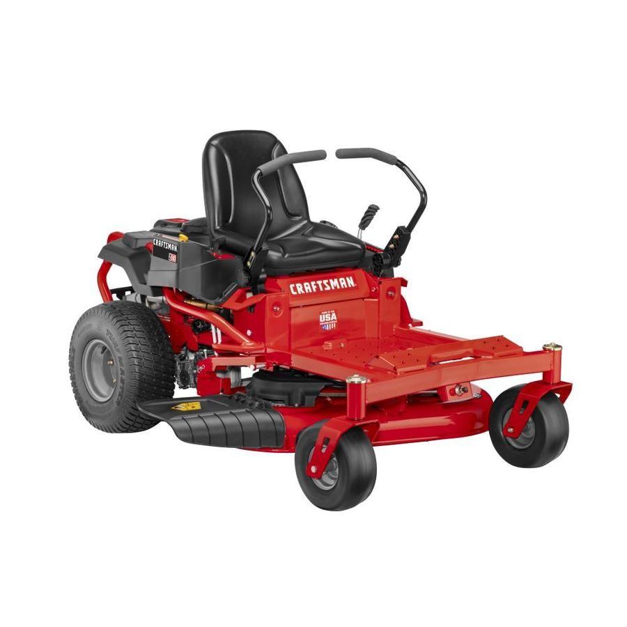 Craftsman Z510 20 Hp V Twin Dual Hydrostatic 42 In Zero Turn Lawn Mower With Mulching Capability Kit Sold Separately Lowes Com In 2020 Zero Turn Lawn Mowers Lawn Mower Mulching