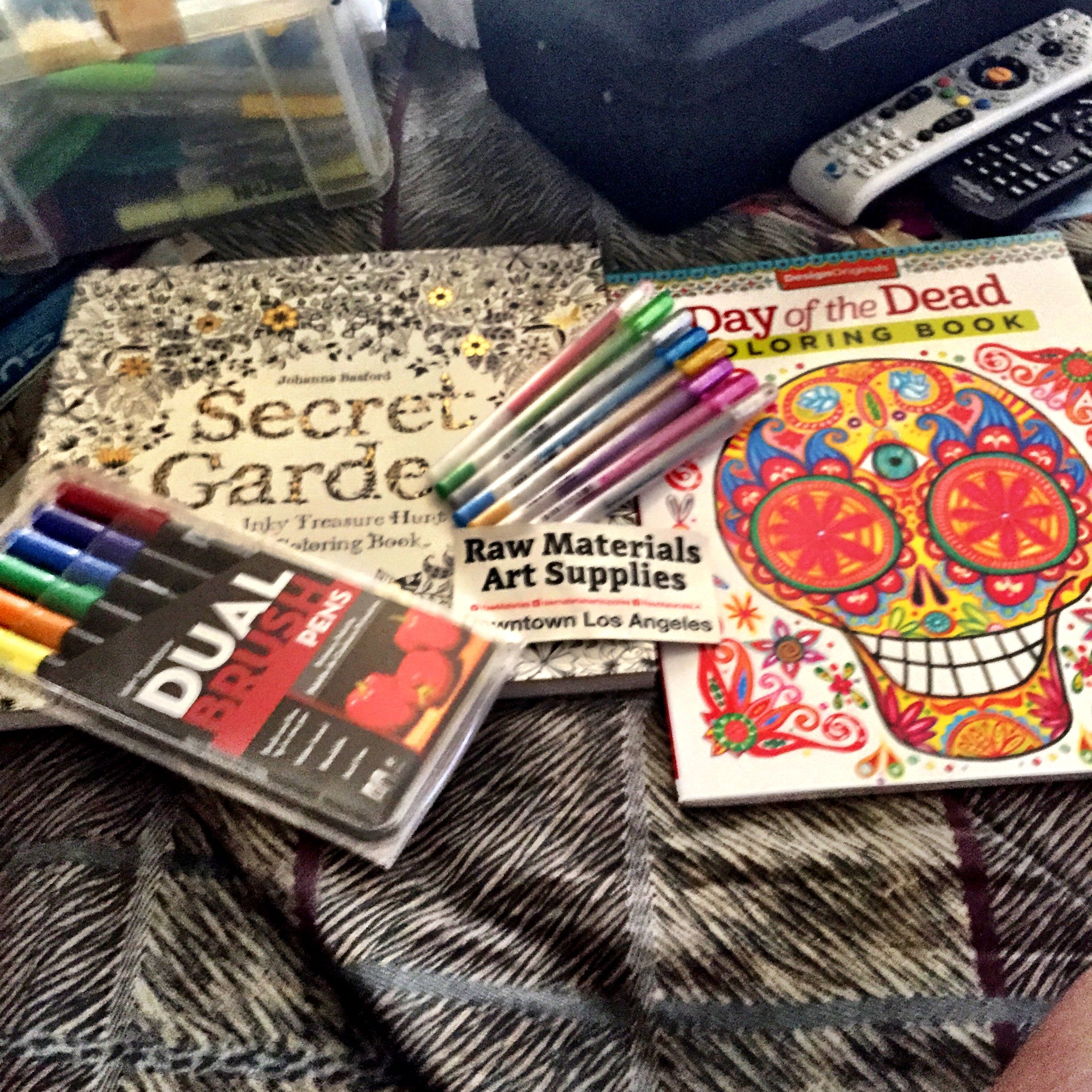 Some Stuff I Have Tombow Markers Tombowusa Craft Secret Garden Coloring Book Buy It At Amazon Day Of The Dead