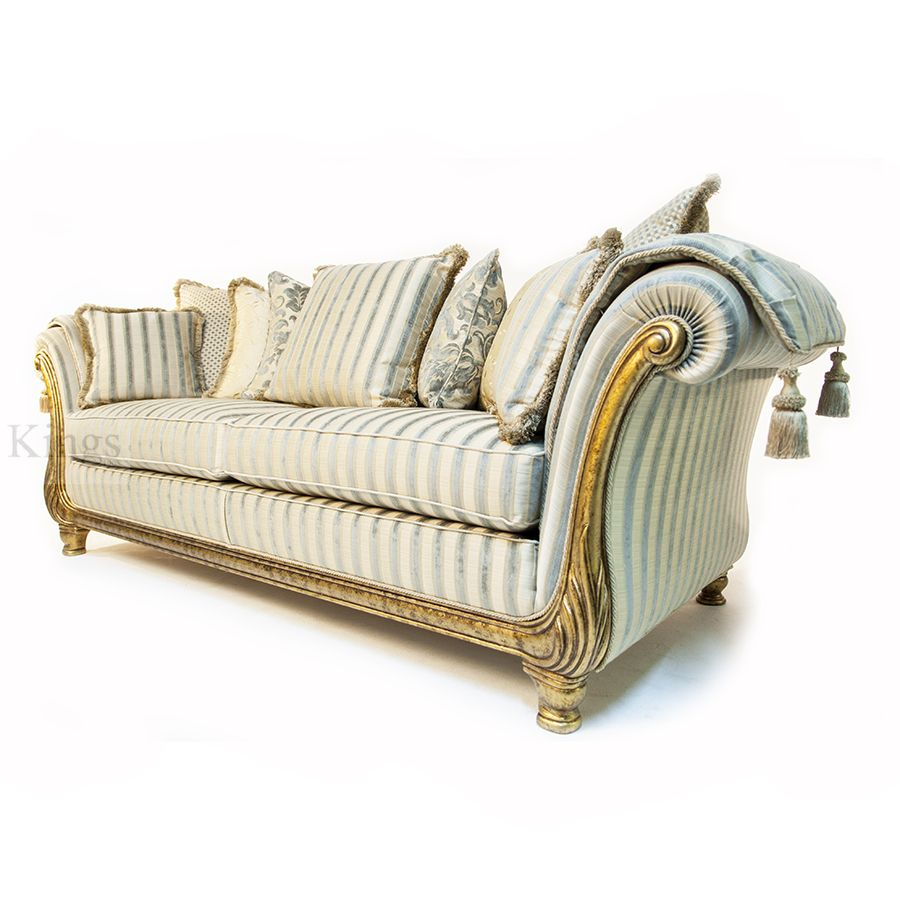 Wonderful #Gascoigne #Designs Victoria #Luxury Italian Frame Three Seater # Sofa Finished In