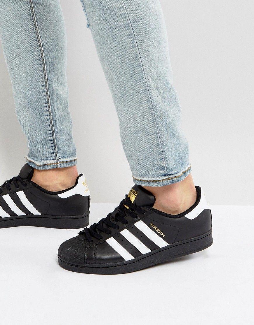 Adidas Originals Superstar Sneakers In Black Black Adidasoriginals Adidas Superstar Black Adidas Superstar Outfit Adidas Originals Superstar