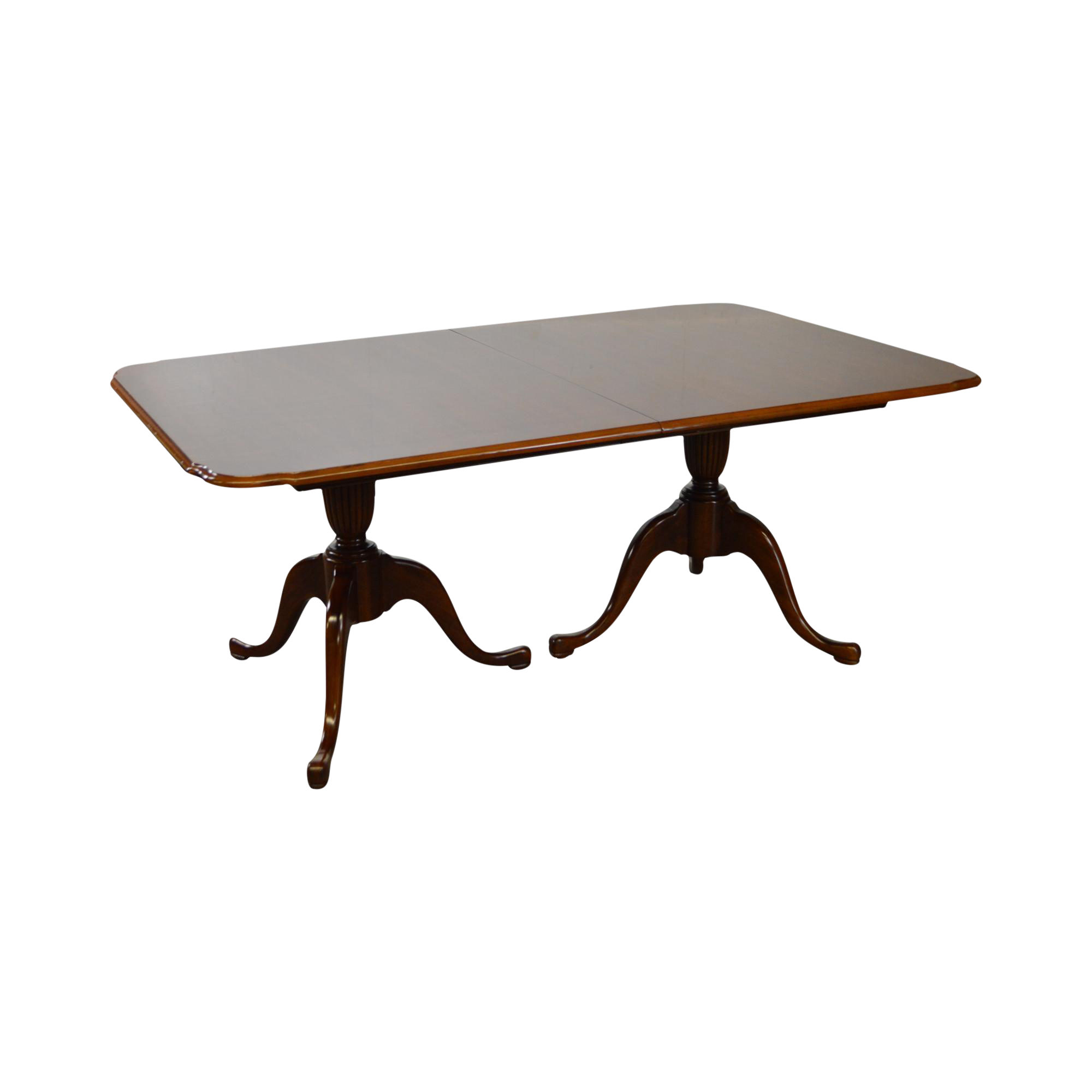 Thomasville Cherry Double Pedestal Traditional Dining Table W Leaves On Chairish Com Dining Table Traditional Dining Tables Dining
