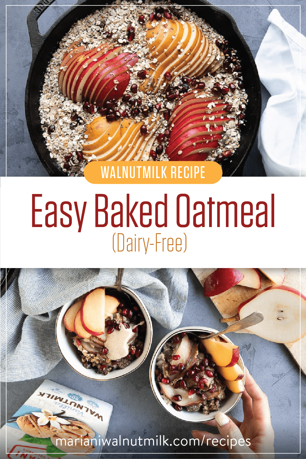 Easy Baked Oatmeal Recipe Dairy Free Baked Oatmeal Recipes Oatmeal Recipes