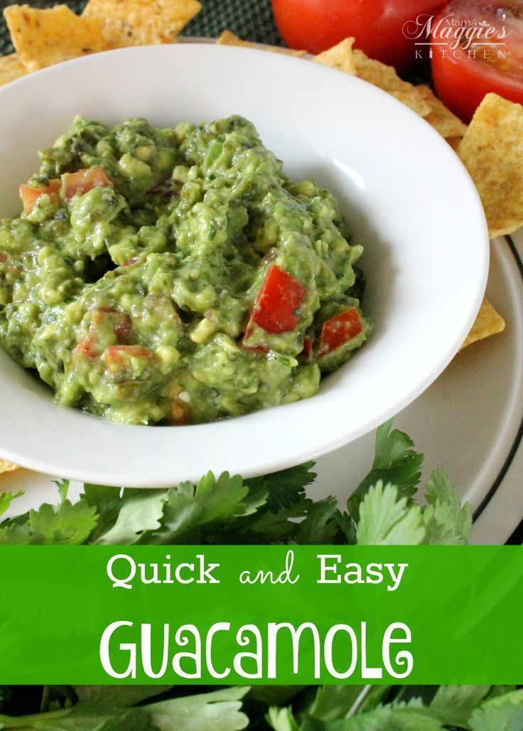 Quick and Easy Guacamole - a must when eating tacos or any Mexican dish - by Mama Maggie's Kitchen
