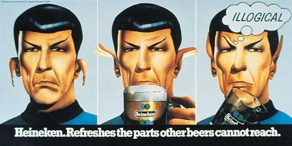 Mr. Spock Drinks Heineken