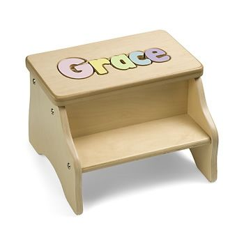Personalized two step puzzle stool baby pinterest child and personalized two step puzzle stool negle Image collections