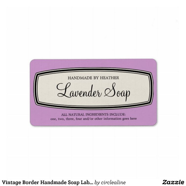 Vintage Border Handmade Soap Label Template Projects to Try - ingredient label template