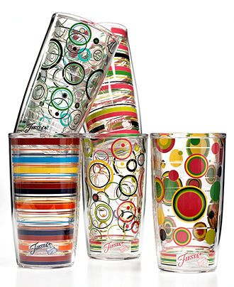 Put our your party glasses! Fiesta by Tervis Drinkware, Tumbler Collection BUY NOW!