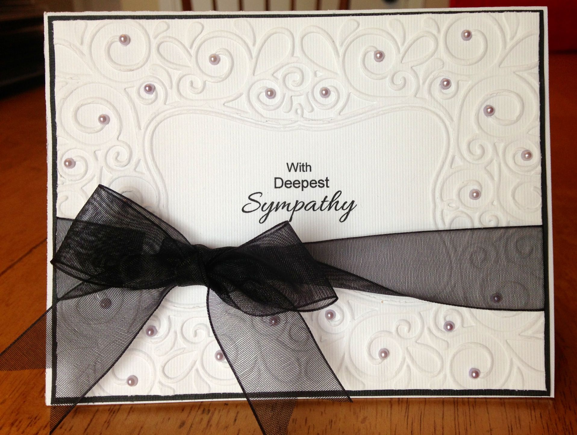 Card Making Ideas Using Embossing Folders Part - 16: Handmade Sympathy Card Using Darice Scroll Frame Embossing Folder