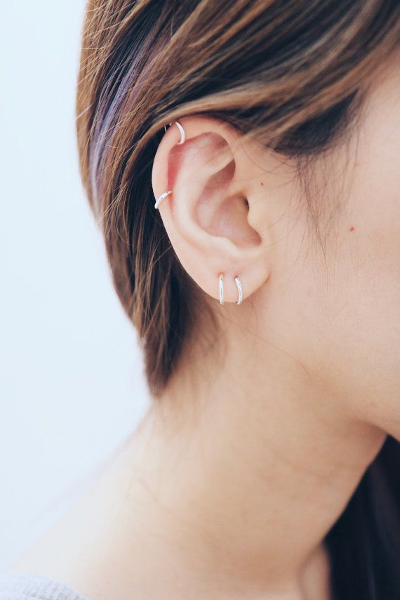 8mm 10mm Hoop Earrings Cartilage By Hylittledainty
