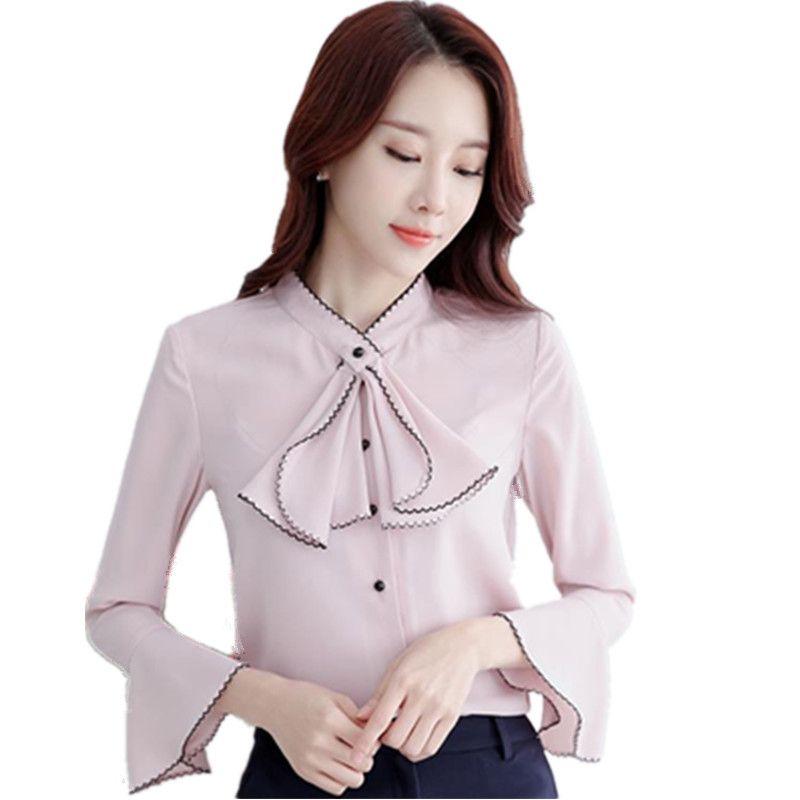 >> Click to Buy << 2017 Spring Autumn New Fashion Korean style Women long sleeve Shirt Girls Elegant Slim Chiffon Casual Blouses Tops Shirt  CM1115 #Affiliate