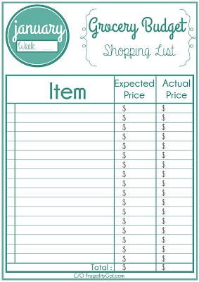 printable grocery list budget section heart of the home