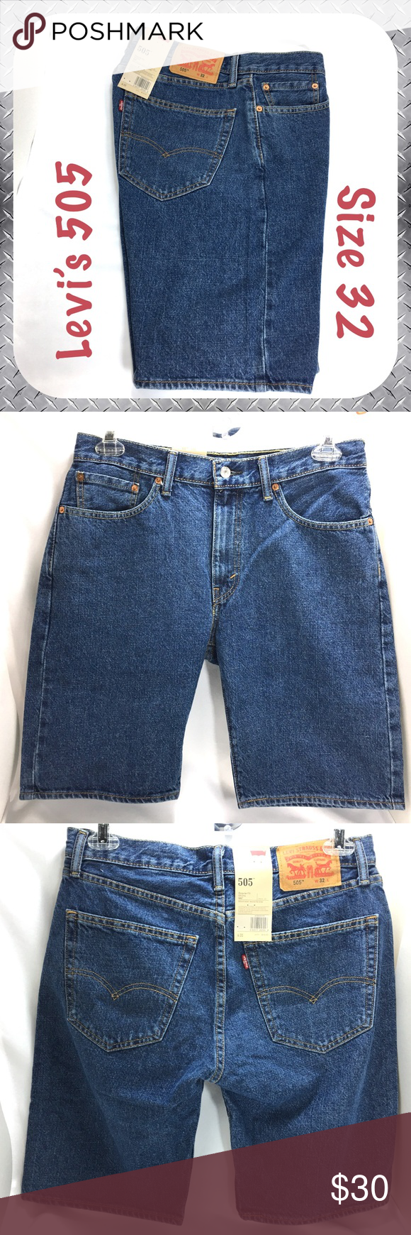 8548e848df6 NWT Levi's 505 Jean Shorts Regular Fit Flat Front New with Tags! Levi's ( Levis