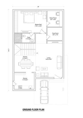 Pin by Mohmmad Nisar on new plan dublex | 30x40 house ...