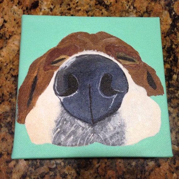Love Heart Dog Nose Gicl\u00e9e Watercolour Art