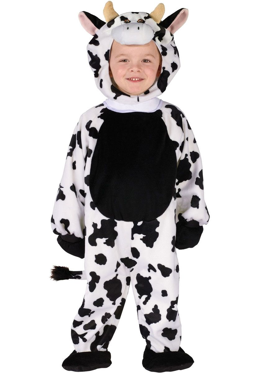 Child Cow Jumpsuit Boys Girls Animal Book Week Day Fancy Dress Costume Kids