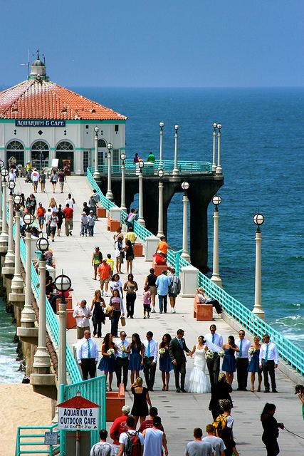 Wedding On The Manhattan Beach Pier California Usa