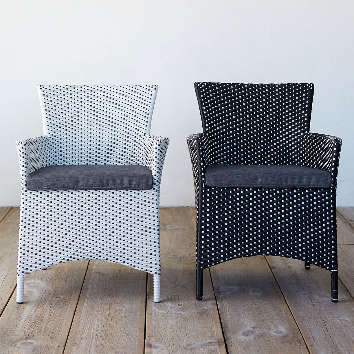 Classic All Weather Wicker Dining Chair, Two-Tone in Outdoor Living Outdoor Seating at Terrain