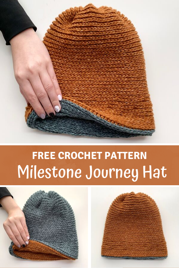 Milestone Journey Hat - free crochet hat pattern by Wilmade