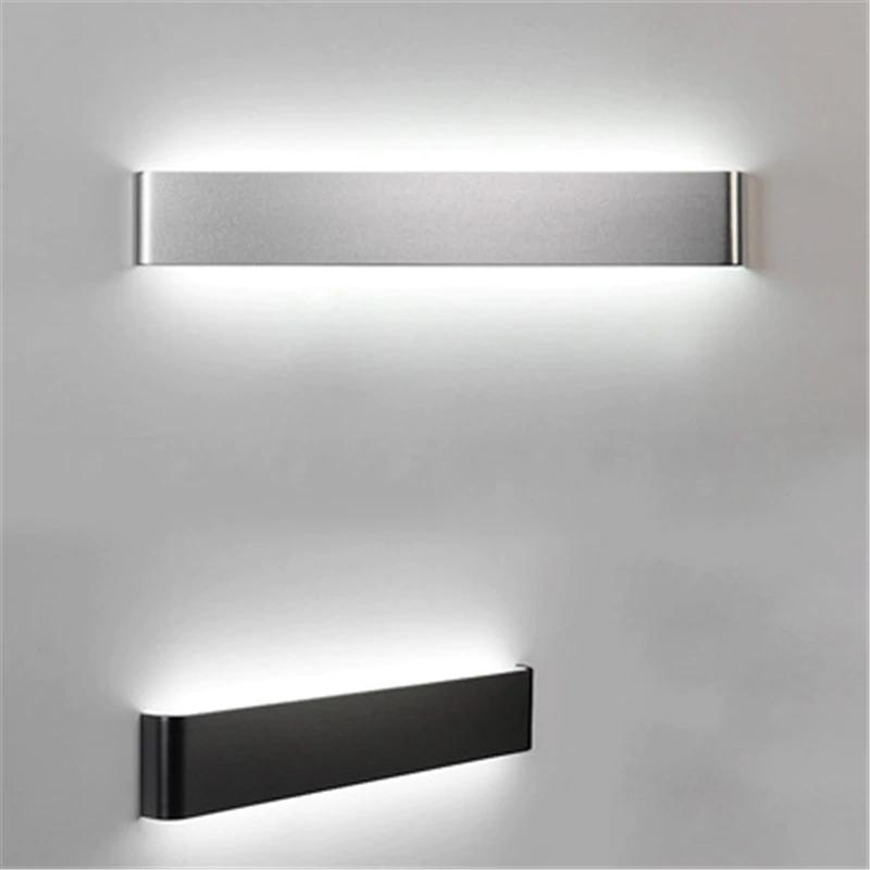 Minimalist Wall Lamp In Black Or Silver Modern Wall Lights Led Wall Lights Led Wall Lamp