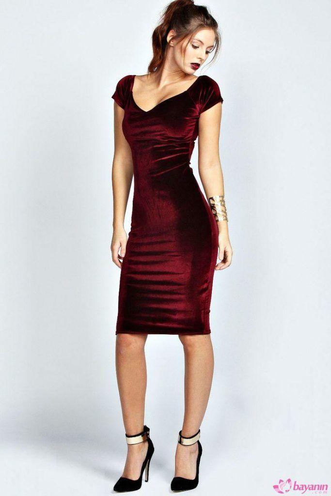 Kadife Elbise Modelleri Bodycon Elbise Elbiseler Elbise Modelleri