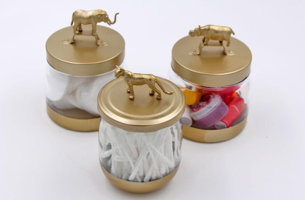 Badezimmer einmachglas ideen diy upcycling idee u gläser mit deckel verschönern  upcycling and craft