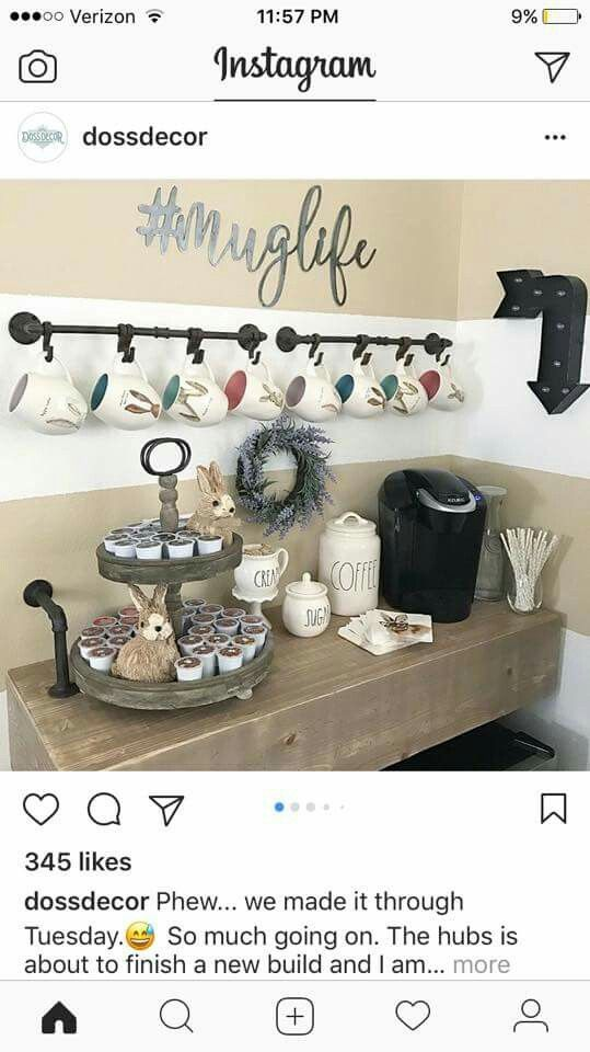 Love the #MugLife for my coffee bar wall. | Coffeeeeee | Pinterest ...
