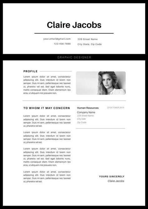 Creative Resume Template, CV Template, Instant Download, Editable ...