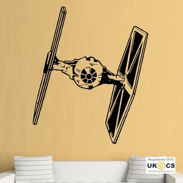 Star Wars Tie Fighter Film Wall Art Stickers Decals Vinyl Decor Room ...