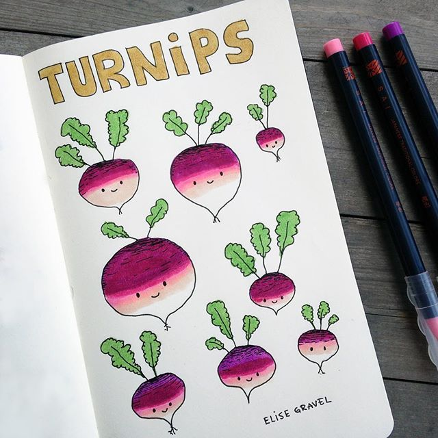 Turnips Who knew they could be so friendly-looking? #sketchbook