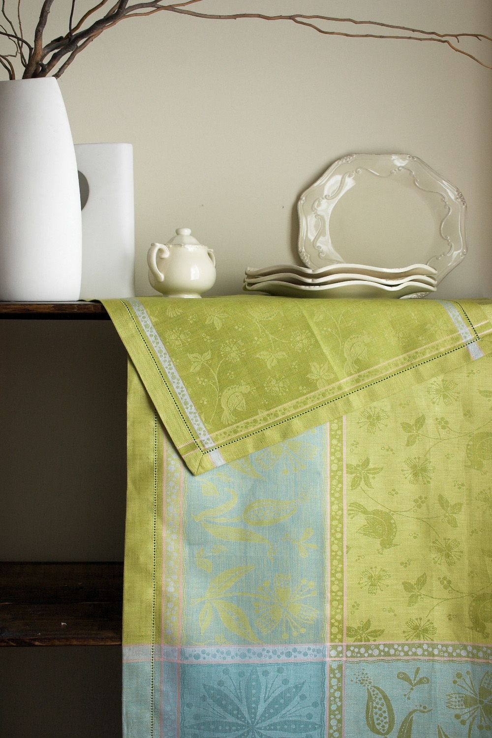 #LinenWay #Linen #Napkin #LinenNapkin #Hemstitching #Colorful Napkin #Olive Green Napkin