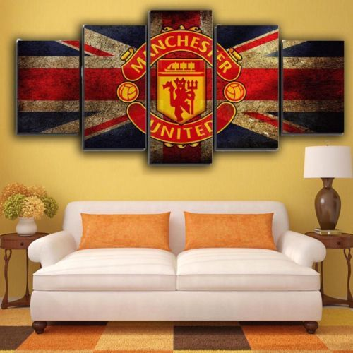 Manchester United Football 5 pcs Painting Canvas Wall Art Poster ...