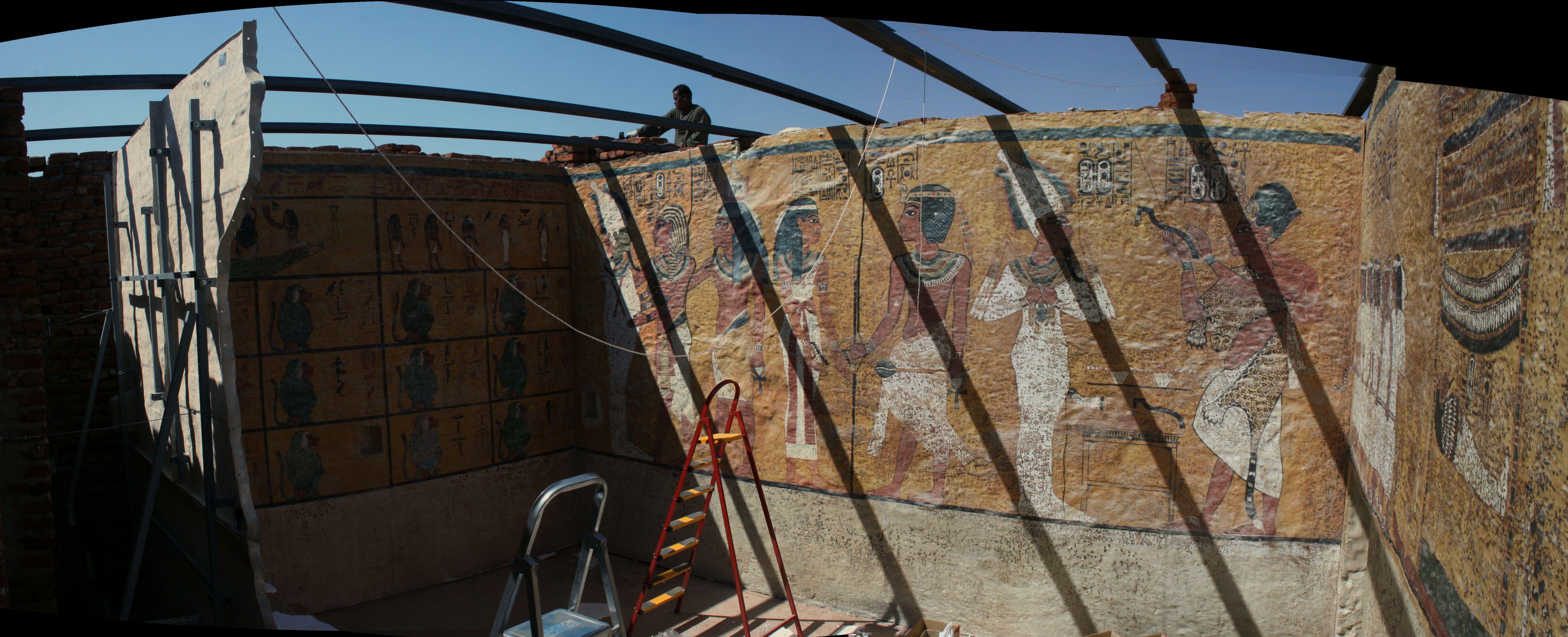A Gorgeous Panorama Of The Tutankhamun Facsimile Copyright Tarek Waly Center Architecture Heritage مركز طارق والى العمارة والتراث Luxor Tutankhamun Egypt