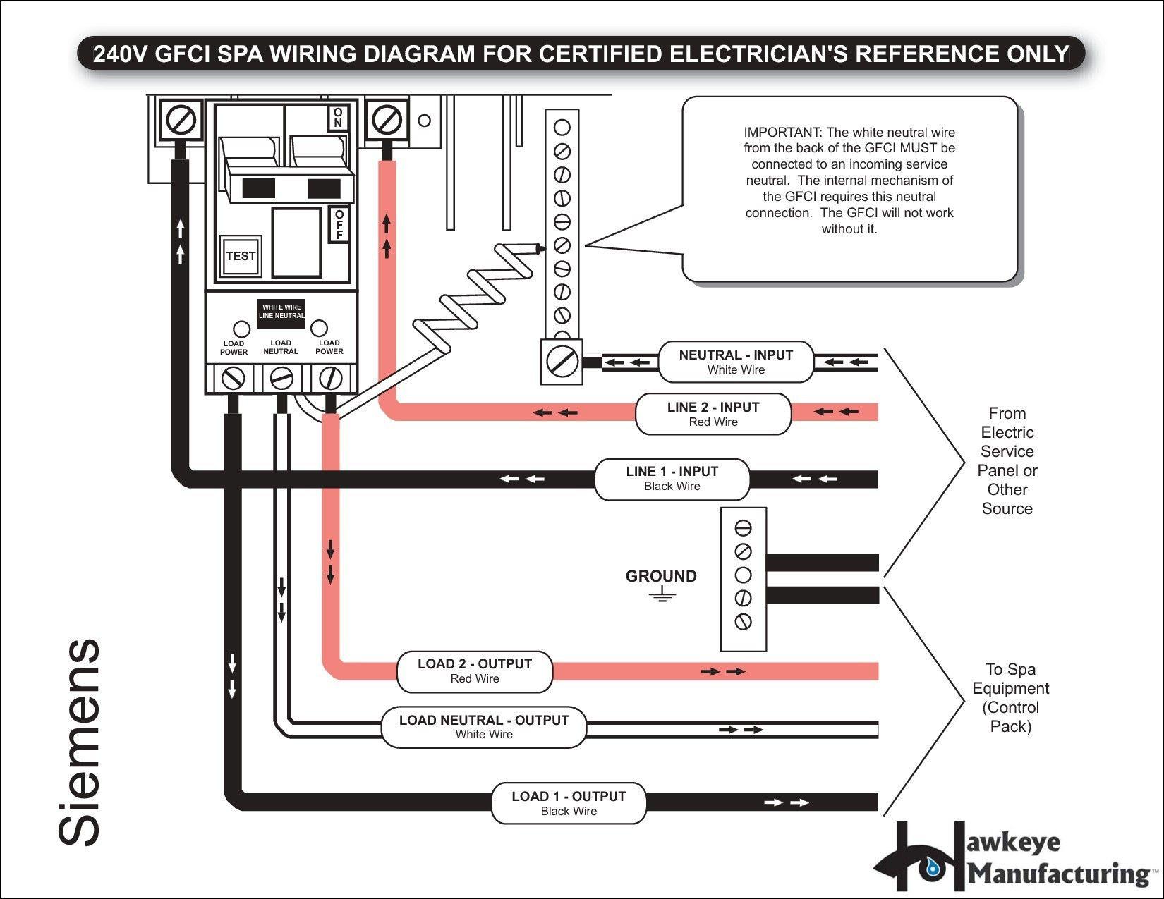 Gfci Breaker Wiring Diagram Awesome in 2020 Diagram