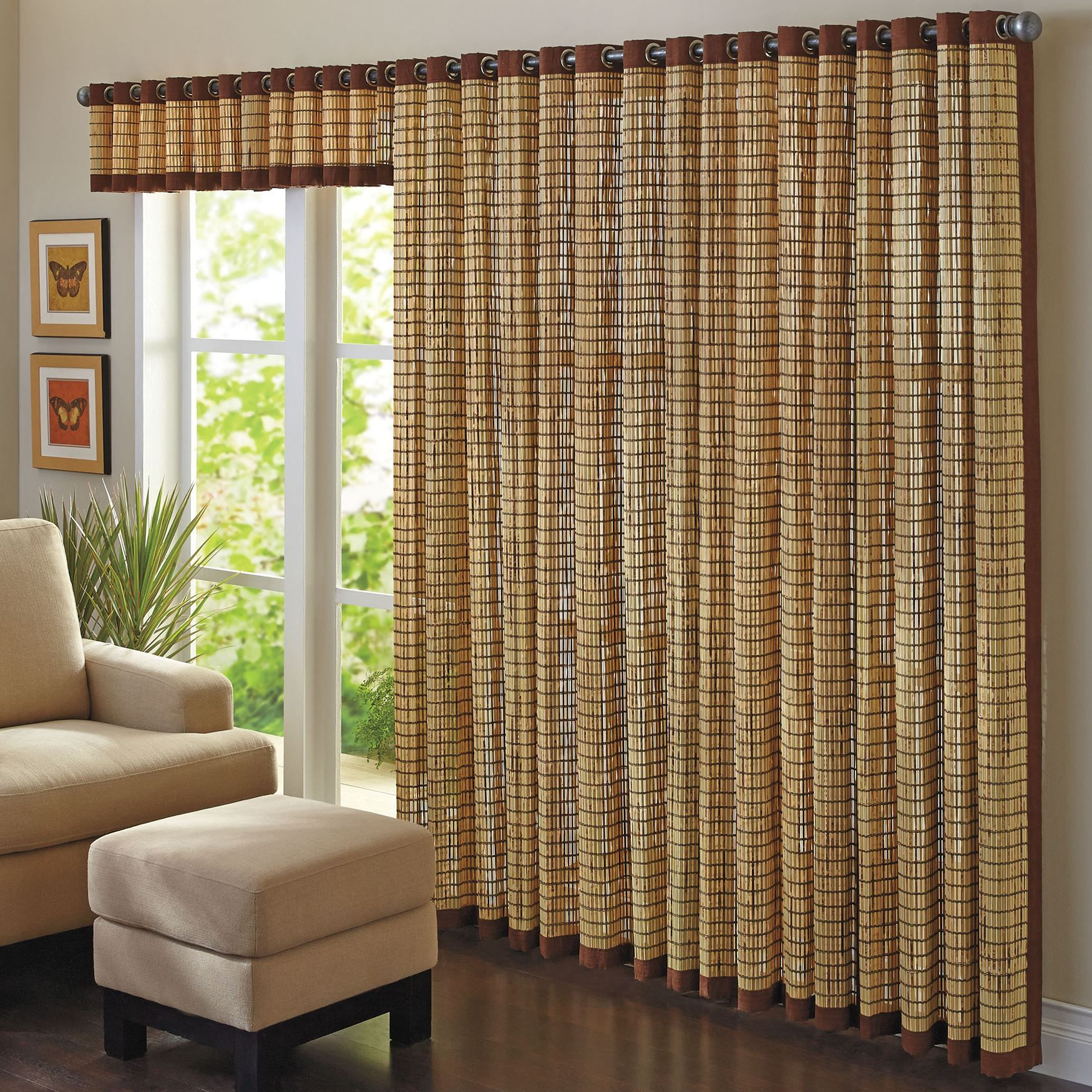 Bamboo Grommet Panel Valance Bamboo Curtains Outdoor Bamboo Curtains Curtains