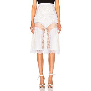 Rodarte Lace and Laser Cut Skirt