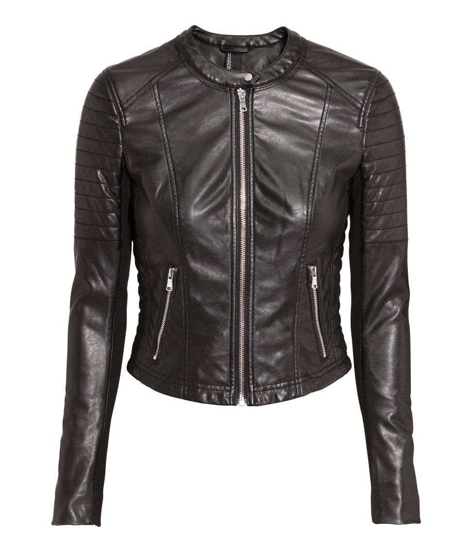 Description biker jacket in original leather with quilted sections