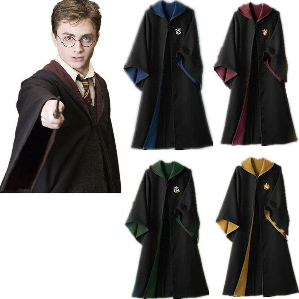 Halloween Harry Potter Quidditch Severus Snape Robes Costume Cosplay Cape