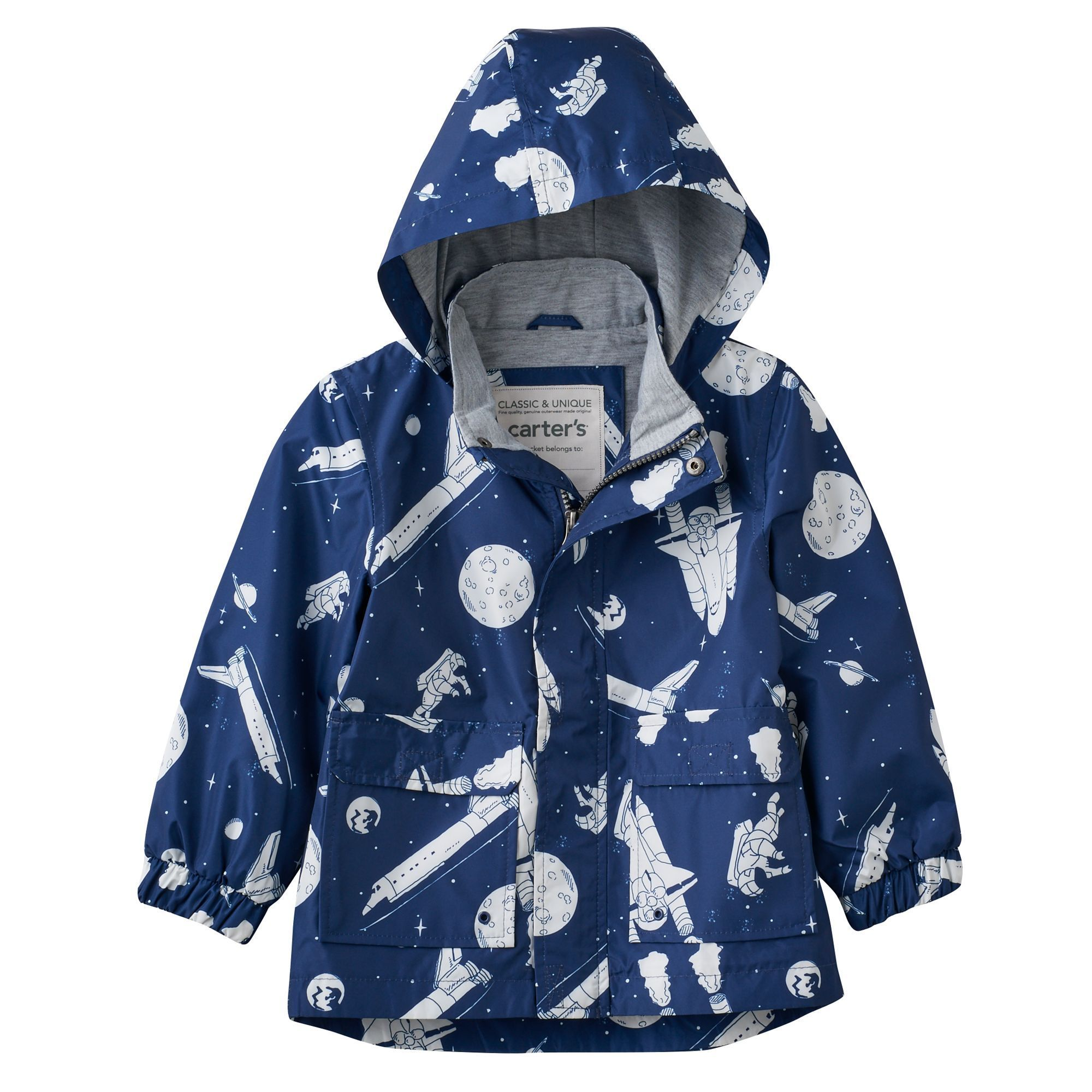 Baby Boy Carter S Lightweight Outer Space Rain Jacket In