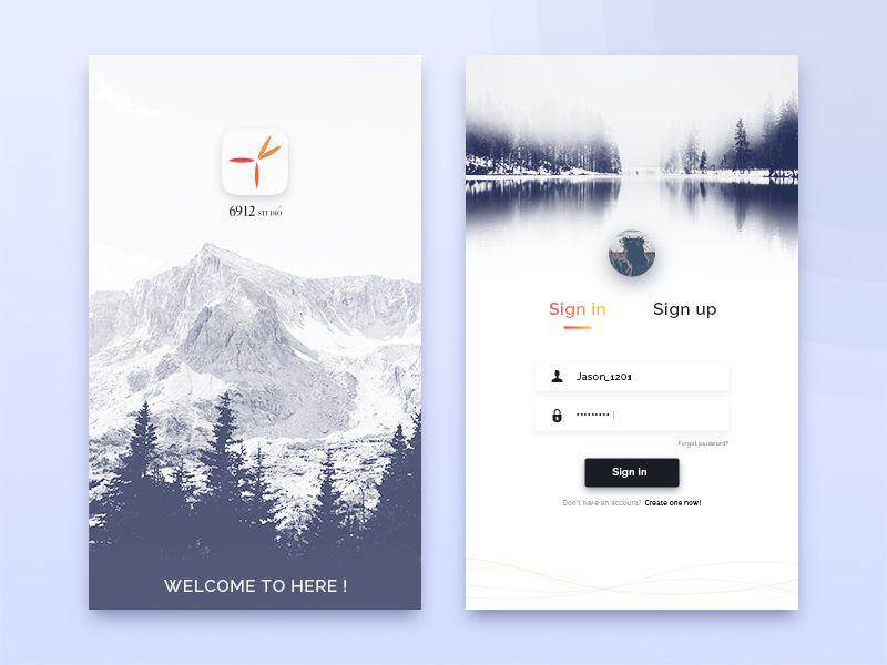 login sign in sign up interface | Webdesign | App login