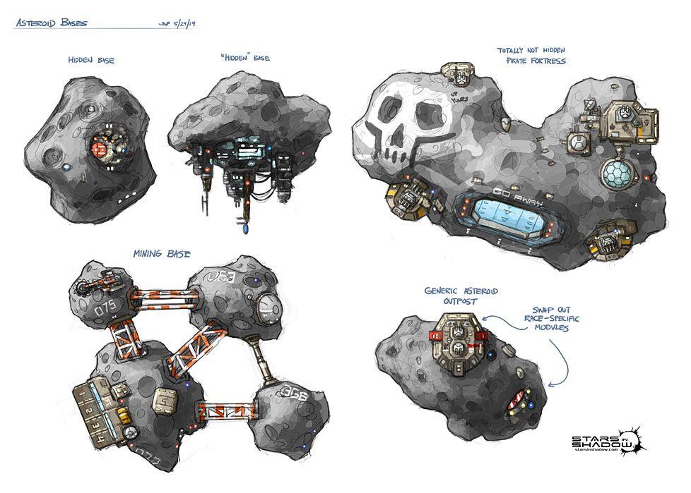 Stars in Shadow: Asteroid Bases by AriochIV on DeviantArt   [ Walk