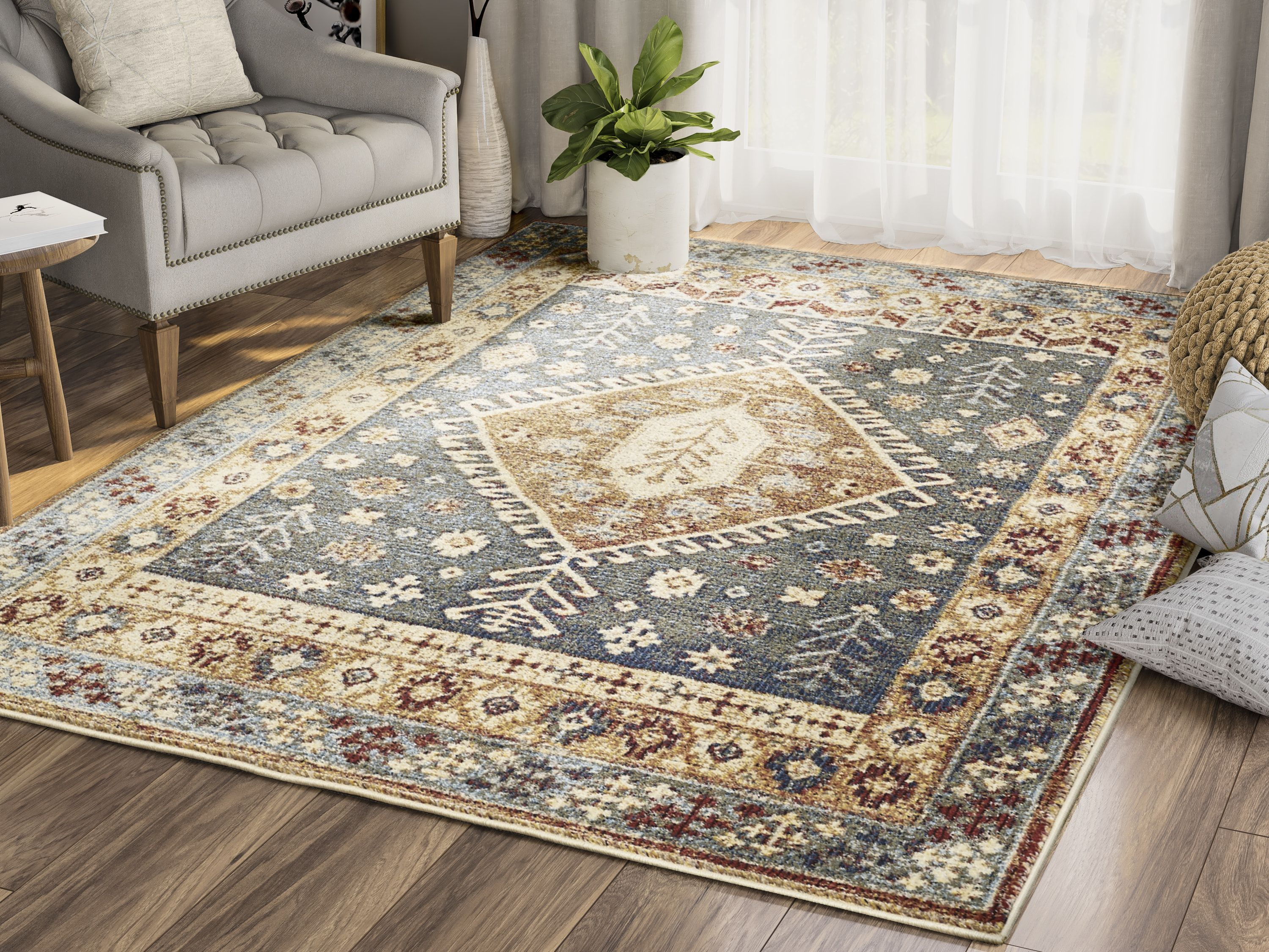 Mes100a Color Blue Size 7 9 X 10 2 Floral Area Rugs Area